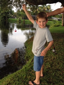 Chris fishing two weeks prior to diagnosis; July 2012
