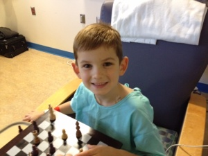 At Children's Hospital for surgery; August 2012